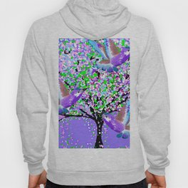 BIRDS OF SPRING PURPLE OIL PAINTING Hoody
