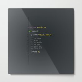 programmer's choice, C nerd. Metal Print