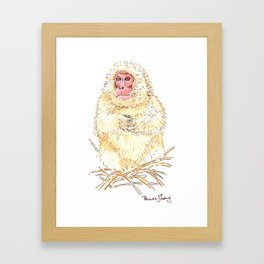 Snow Monkey Framed Art Print