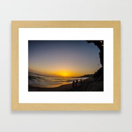 Cali Sunset Framed Art Print