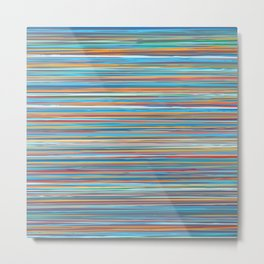 Colorful lines summer pattern Metal Print