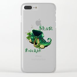 St. Patty's Day Celebrate Sham Rockin' Style Clear iPhone Case