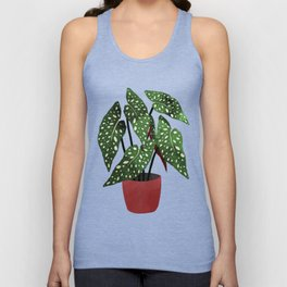 Begonia maculata pot watercolor Unisex Tank Top
