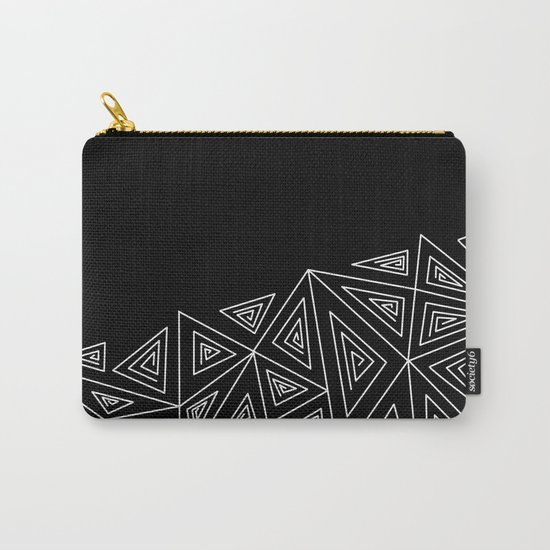 Abstract black and white pattern.Triangles 2 . Carry-All Pouch