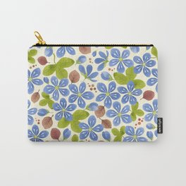 Pattern with hepatica flowers Carry-All Pouch
