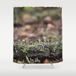 Lichen Forest Shower Curtain