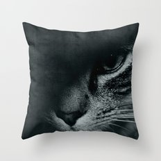 Cat grunge Throw Pillow
