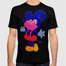 Fakey Mouse Mens Fitted Tee Black MEDIUM