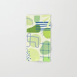 Suburbia from Above - Abstract Postmodern Retro Pattern Hand & Bath Towel