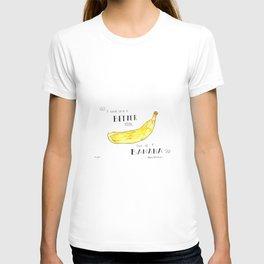 """I Could Carve a Better Man Out of a Banana"" Kurt Vonnegut Quote T-shirt"