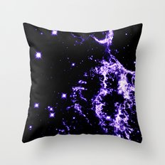Galactic Electricity Purple Throw Pillow