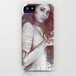 You Lied: Rainbow (nude girl with mehndi tattoos) iPhone Case