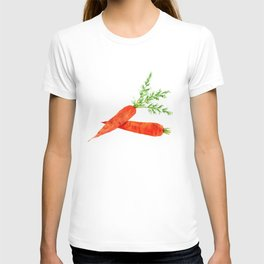 orange carrot watercolor painting T-shirt