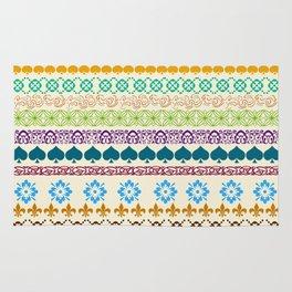 Swedish Sunshine Folk Art Rug