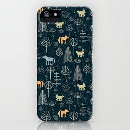 Magic Storybook Northwest Forest Pattern iPhone Case