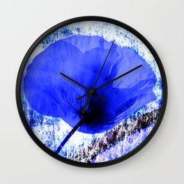 Blue Poppy vintage 222 Wall Clock