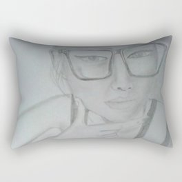 Where does she sit my muse. II Rectangular Pillow