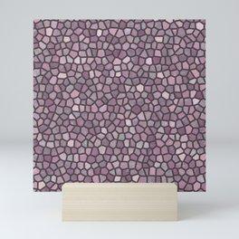 Mauve Pink Mosaic Pattern - darker Mini Art Print