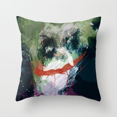 A Joker painting Throw Pillow