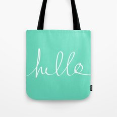 Hello x Mint Tote Bag