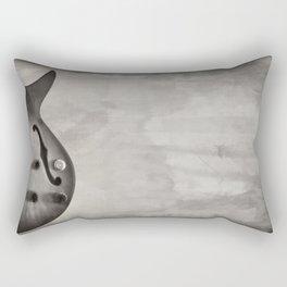 Guitar (black and white) Rectangular Pillow