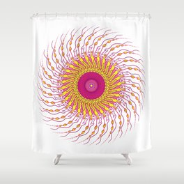 For when you enfold me in your complexities Shower Curtain