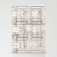 blueprint Stationery Cards featuring Blueprint by hoopderscotch