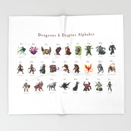 Monster Alphabet Throw Blanket