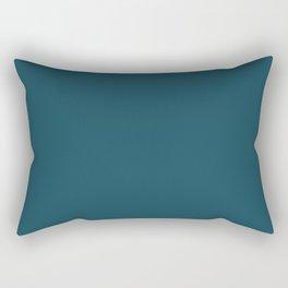 Christmas Winter Night Blue Rectangular Pillow