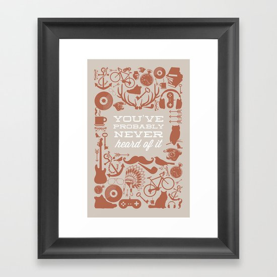 The Study of Hipsters Framed Art Print