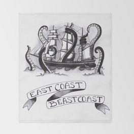 East Coast Beast Coast Throw Blanket