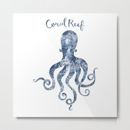 Octopus Coral Reef habitat Metal Print
