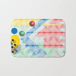 Abstract Lace Bath Mat