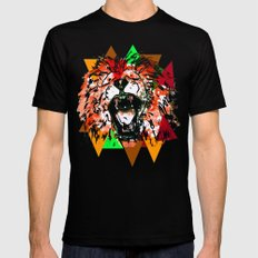Panthera Leo Black SMALL Mens Fitted Tee
