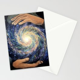 Conjurer (Mural at High Dive, Gainesville FL) // Stars Galaxy Hands Energy Power Creation Space Stationery Cards