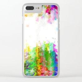 Digital Paint Grunge Clear iPhone Case