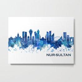 Nur-Sultan Kazakhstan Skyline Blue Metal Print