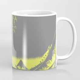 The Great Wave Yellow & Gray Coffee Mug