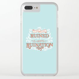 Grishaverse Quote Ruination Blue Orange Clear iPhone Case