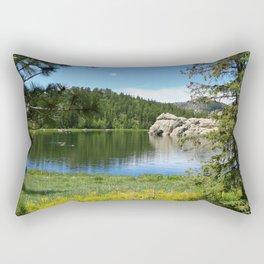 Serene Sylvian Lake  Rectangular Pillow