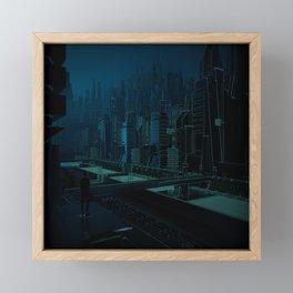 City Framed Mini Art Print