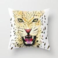 leo Throw Pillows featuring Leo by Iskoskikh Sveta