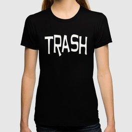 Trash print white T-shirt