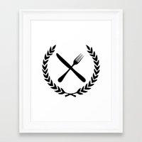 eat Framed Art Prints featuring Eat by Noah Zark