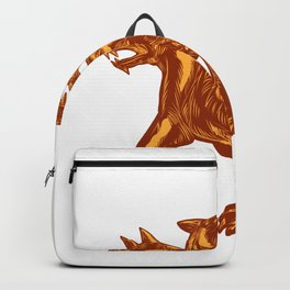 Cerberus Scratchboard Style Backpack