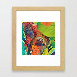 AnimalColor_Sloth_001_by_JAMColors Framed Art Print