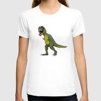 t rex T-shirts featuring T-Rex by Janusz Kali Kaliszczak