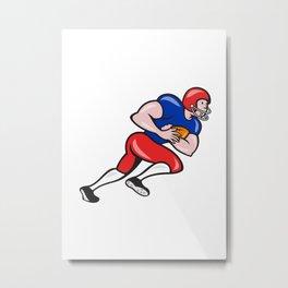 American Football Running Back Rushing Metal Print