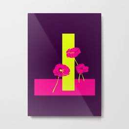 Neon Poppies #society6 #poppies Metal Print