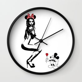 Mickey in Love Wall Clock